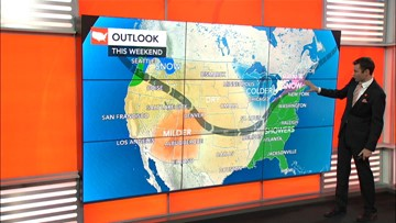 Thanksgiving travel Where could storms cause problems?