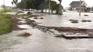 Jonathan Petramala in Plaquemines Parish where overtopped levee could lead to isolation