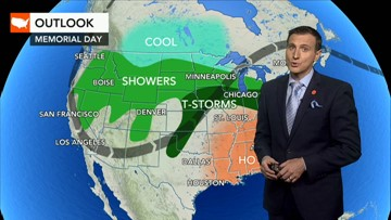 Memorial Day: What will the weather be for your area?