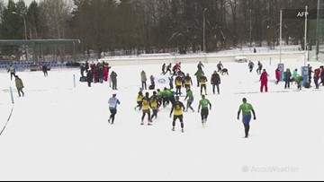 Could you brave the snow for a game of rugby?
