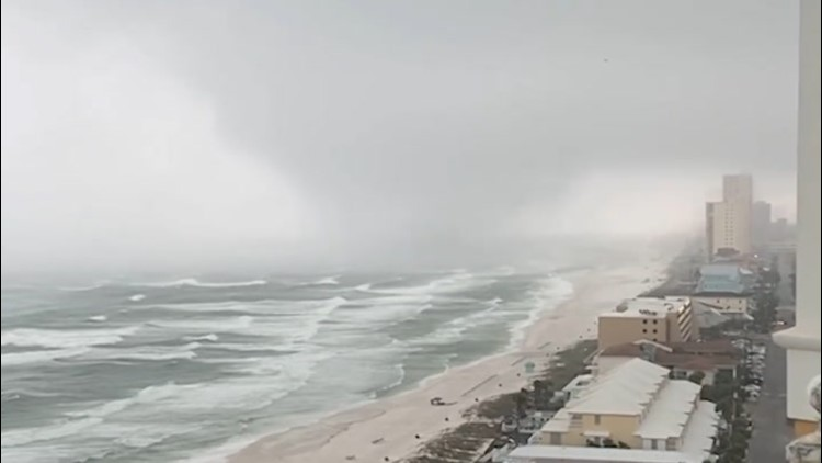 Possible waterspouts spotted coming ashore in Florida