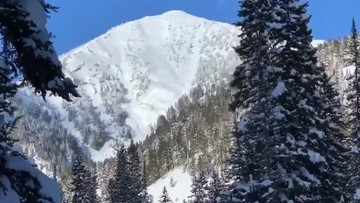 Avalanche consumes trees as it slides down Teton Pass