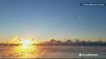 Stunning time-lapse of sunrise over Lake Ontario
