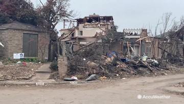 Tornado damage still lingers