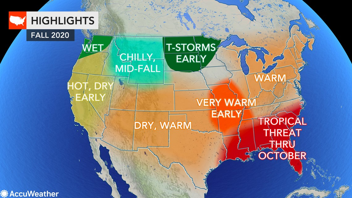 Weather Map Northeast Us Fall forecast: Where will autumn weather arrive first in the US