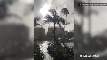 Hail and rain pummel Culver City
