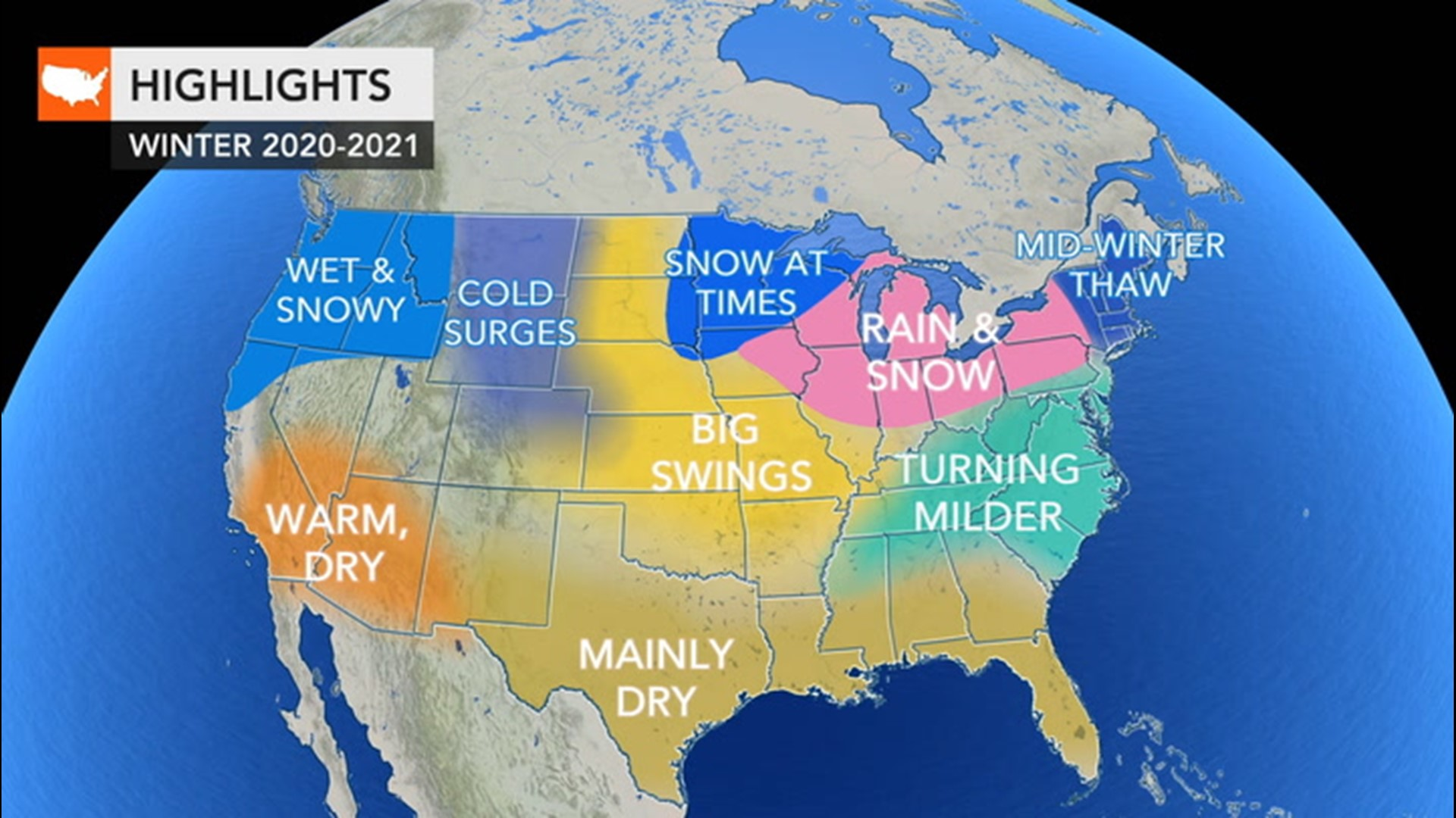 Christmas Weather In East Texas 2020 Winter is coming; here's the winter weather forecast for around