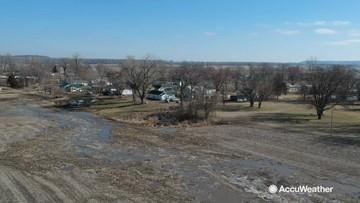 Missouri River flooding snakes through farmland