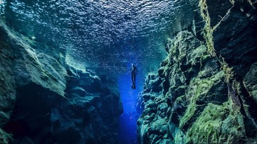 The Magical Diving Spot Where You Can Touch Two Continents at Once