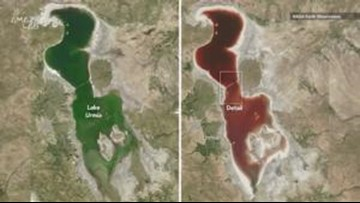 Why a Lake in Iran Changed from Green to Blood Red