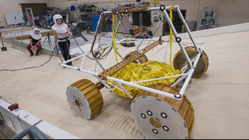 Watch NASA Test Out New Moon Rover's Moves in Lunar Lab