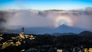 Magical 'Rainbow Halo' Phenomenon Captured by Hiker in England