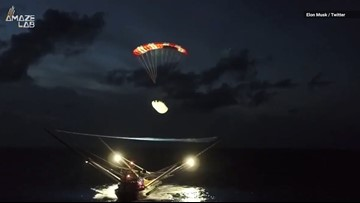 Watch SpaceX's Boat Catch a Falling Rocket Nose in its Giant Net