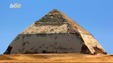 Walk Like an Egyptian... to the 'Bent' Pyramid, Now Open For Business