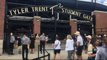 Purdue dedicates gate to superfan Tyler Trent before home