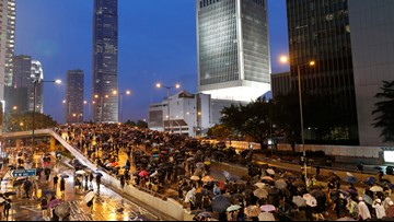 Massive turnout at march in latest Hong Kong protest