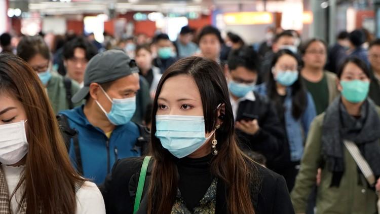 Hong Kong China Outbreak coronavirus masks AP