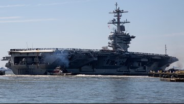 Aircraft carrier deployed after indications Iran planned attack on US forces