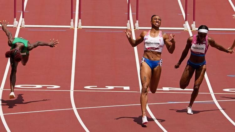 Puerto Rico's Camacho-Quinn keeps Harrison, US out of win column at track
