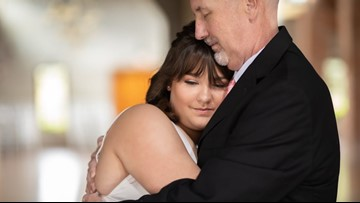 'Beauty in ashes': Daughters stage 'wedding' photos with dying father