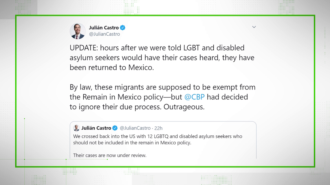VERIFY: Are disabled and LGBT asylum-seekers exempt from deportation rule?