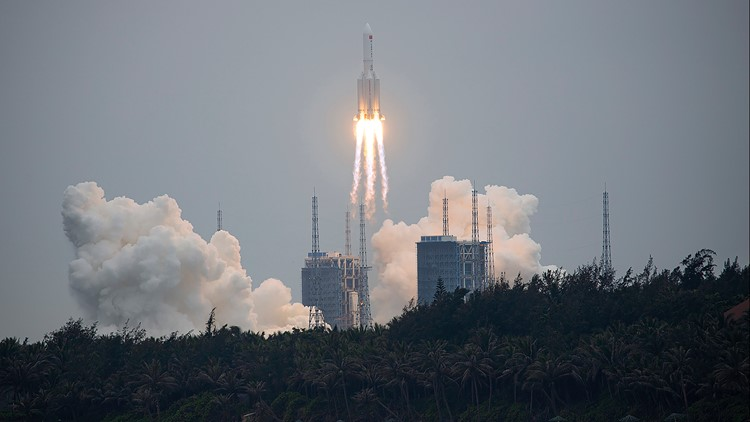 China says most rocket debris burned up during reentry