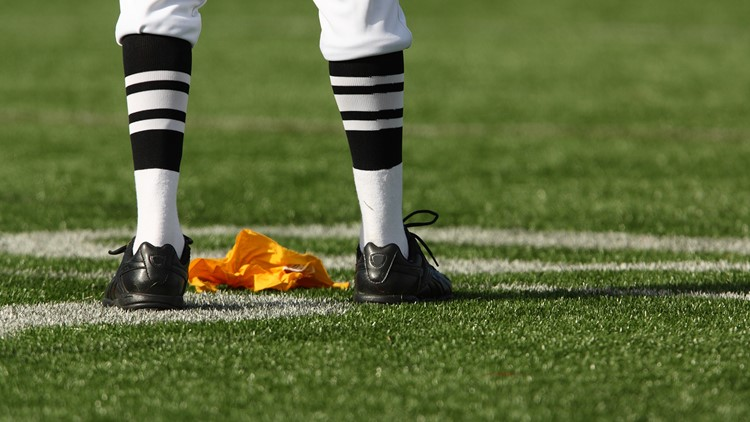 Football NFL penalty flag referee