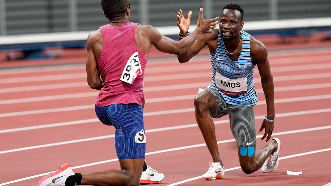 No hard feelings: Amos and Jewett tangle, finish together