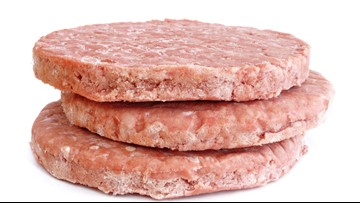 10 tons of frozen beef patties recalled, may contain purple plastic