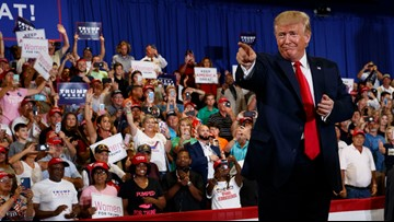At rally, Trump paints bleak picture of Democratic control