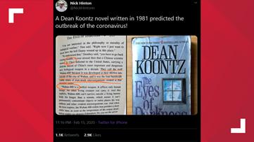 VERIFY: Dean Koontz did not predict the coronavirus outbreak in his 1981 book