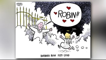 Read: The cartoonist who drew Barbara Bush reuniting with Robin reflects on her death