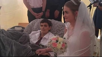 Five hours before dying, this veteran married the love of his life