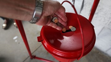 Gold coin worth $1,500 left in Salvation Army red kettle