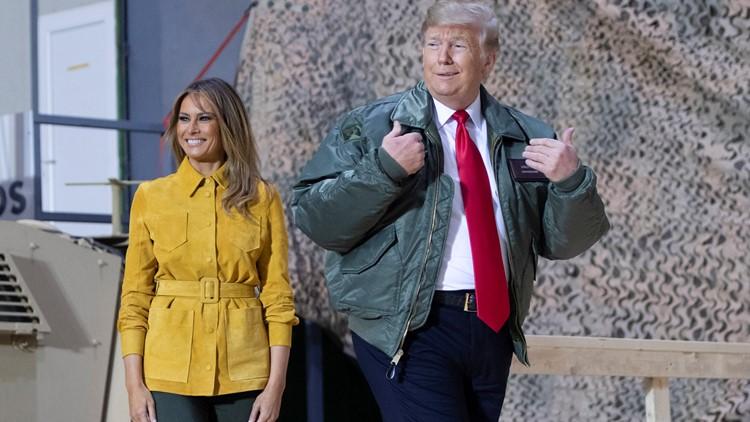 Trump and Melania in Iraq visiting military members