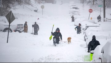 Storm bears down on East, promises up to 20 inches of snow