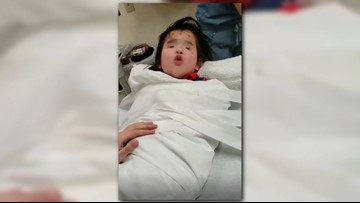 'Bravest girl of them all'   Singing helps girl born without eyes during hospital panic attack