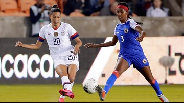 US women's soccer defeats Haiti 4-0 to open Olympic qualifying
