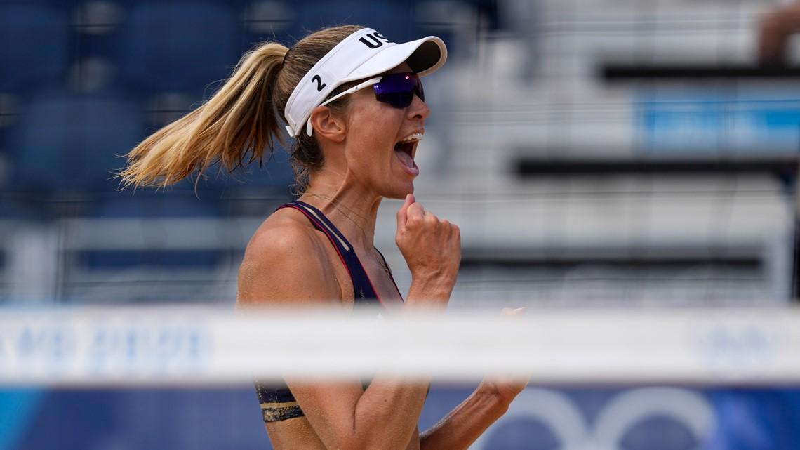 'A team' onto women's beach volleyball quarterfinals against reigning gold medalist