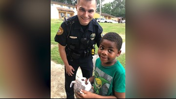 Officer responds to little boy's 911 call to report he's lonely