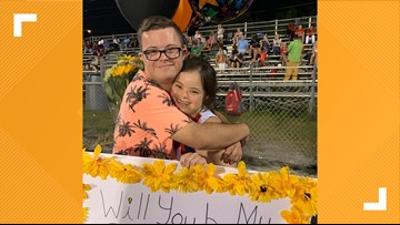 WATCH: Boyfriend's homecoming proposal for girlfriend with Down syndrome