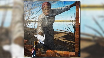 A 3-year-old reached out to a mural of Harriet Tubman and captured hearts across the country