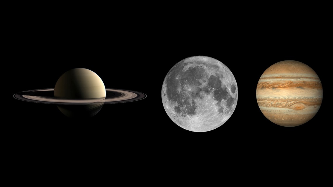 Jupiter, Saturn, moon to line up in night sky this weekend
