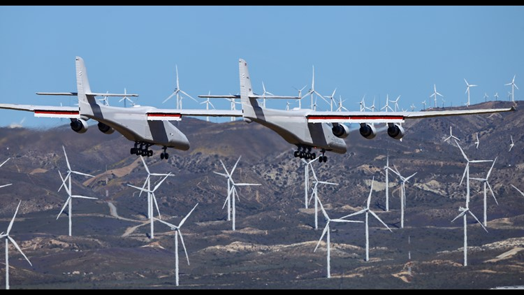 Stratolaunch during first flight April 13