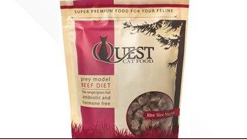 Quest Beef Cat Food recalled for possible Salmonella contamination