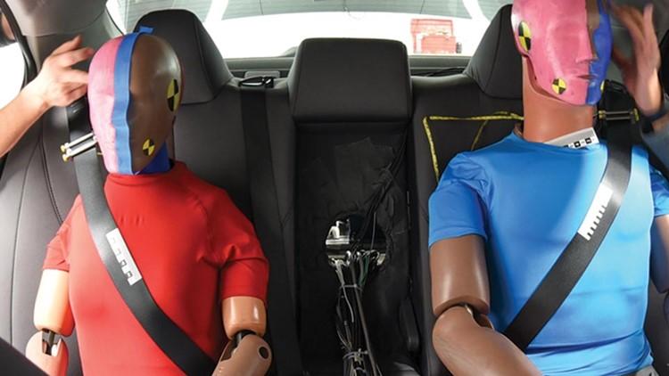 rear seat belts study