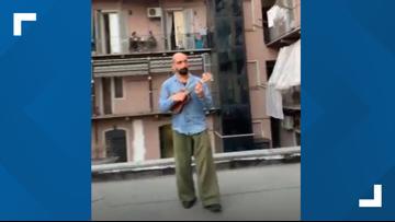 HEARTWARMING: Italians play music out of windows for coronavirus lockdown 'flash mob'