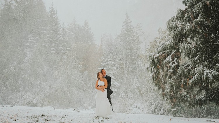 Sean Brittany Tuohy wedding Spokane snowstorm 2019