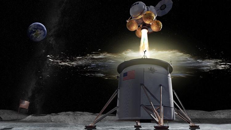 Artemis program ascent vehicle concept drawing NASA