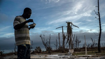Cleanup resumes in Bahamas as Humberto swirls away